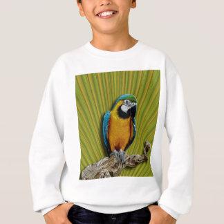 オレンジオウム及びやしTシャツ スウェットシャツ
