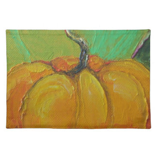 オレンジカボチャ秋のランチョンマット ランチョンマット