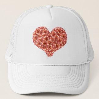 オレンジカーネーションのハートの帽子 キャップ