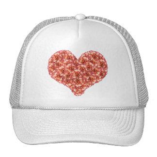 オレンジカーネーションのハートの帽子 トラッカー帽子