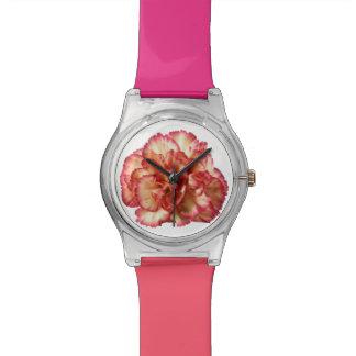 オレンジカーネーションの腕時計 腕時計