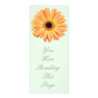 オレンジガーベラのしおりのテンプレート ラックカード