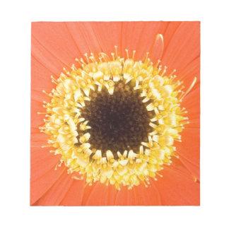 オレンジガーベラの花 ノートパッド