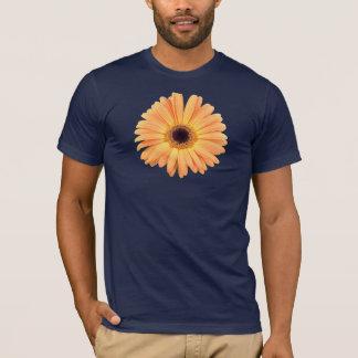 オレンジガーベラの青のTシャツ Tシャツ
