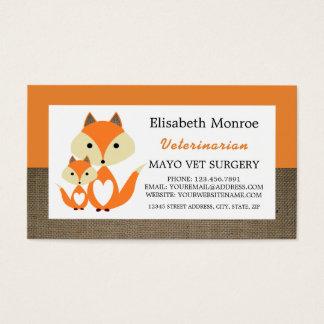 オレンジキツネのバーラップ、獣医獣医 名刺