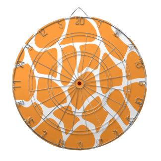 オレンジキリンのプリントパターン ダーツボード
