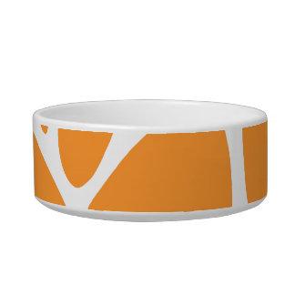 オレンジキリンのプリントパターン ボウル
