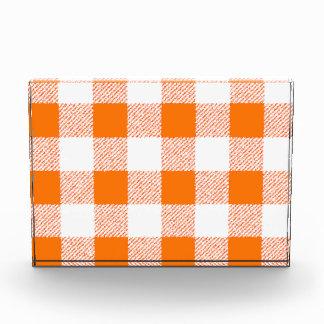 オレンジギンガムの点検 表彰盾