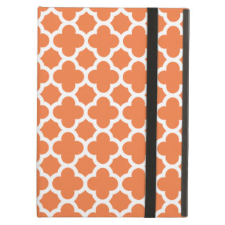 オレンジクローバーの格子垣パターンiPadの空気箱