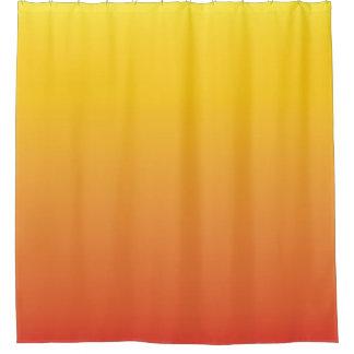オレンジグラデーション勾配への黄色は衰退します シャワーカーテン