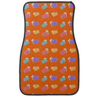 オレンジケーキパターン カーマット