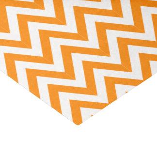 オレンジシェブロンのティッシュペーパー 薄葉紙