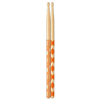 オレンジシェブロンのハンドルのドラムスティック ドラムスティック