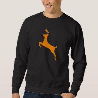 オレンジシカのシルエット スウェットシャツ