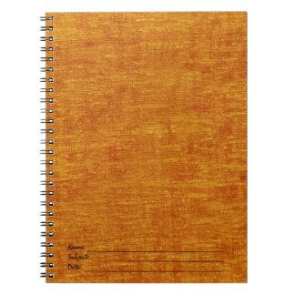 オレンジシュニール生地の質 ノートブック
