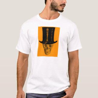 オレンジスカルのシルクハット Tシャツ