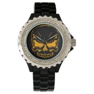 オレンジスカル 腕時計