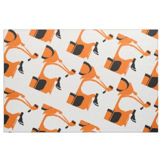 オレンジスクーター ファブリック