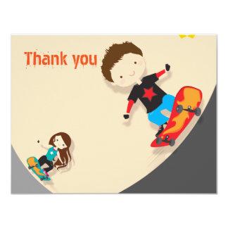オレンジスケートボーダーありがとう カード