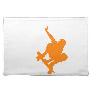 オレンジスケート選手; スケートボード ランチョンマット