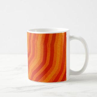 オレンジストライプのな花のデザインの鮮やかな陰 コーヒーマグカップ