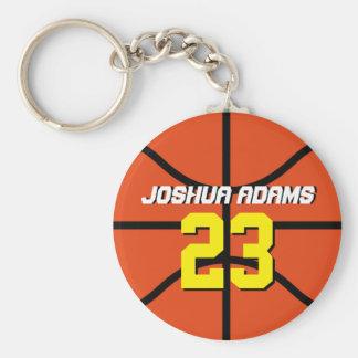 オレンジスポーツチームアスリートのバスケットボールKeychain キーホルダー