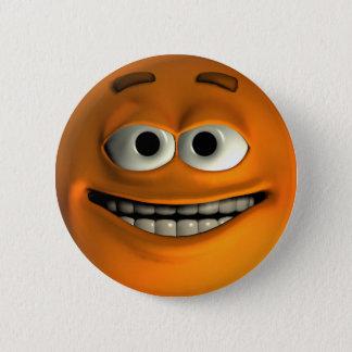 オレンジスマイリー 5.7CM 丸型バッジ
