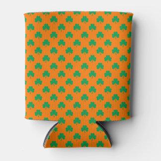オレンジセントパトリックのハート形のシャムロックの緑 缶クーラー