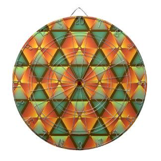 オレンジダイヤモンドパターン ダーツボード
