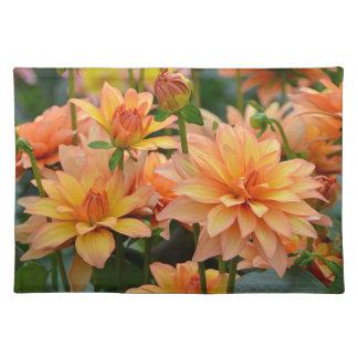 オレンジダリアの花園 ランチョンマット