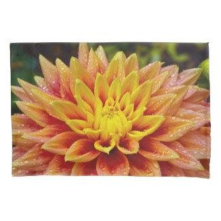 オレンジダリアの花 枕カバー