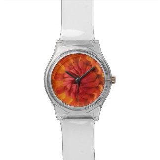 オレンジダリア 腕時計