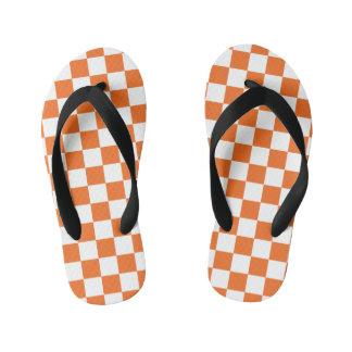 オレンジチェッカーボード キッズビーチサンダル