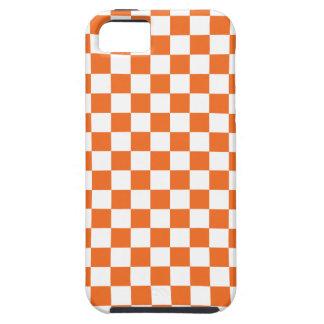 オレンジチェッカーボード iPhone SE/5/5s ケース