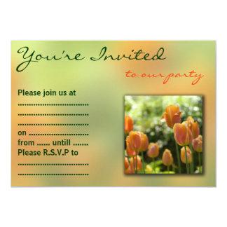 オレンジチューリップの花 カード
