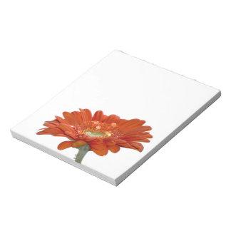 オレンジデイジーのガーベラの花 ノートパッド