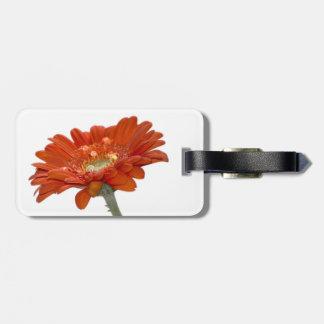 オレンジデイジーのガーベラの花 ラゲッジタグ