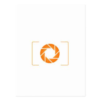 オレンジデジタルカメラ ポストカード