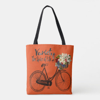 オレンジトートバックの変化生命バイクのスパイス トートバッグ