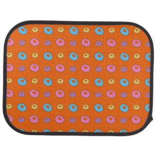 オレンジドーナツパターン カーマット