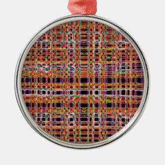 オレンジネオンはパターンを並べます メタルオーナメント