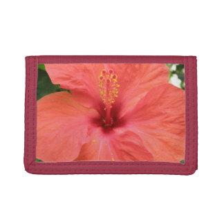 オレンジハイビスカスの花のマクロ財布