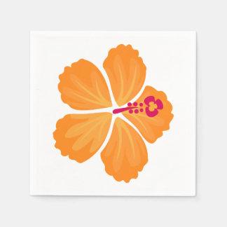オレンジハイビスカスの花 スタンダードカクテルナプキン