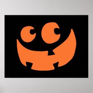 オレンジハッピーハローウィンのカボチャ ポスター