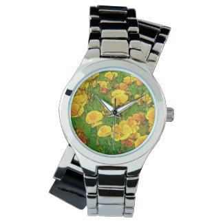 オレンジハナビシソウ 腕時計