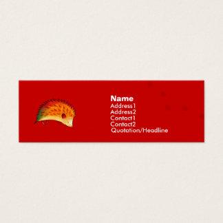オレンジハリネズミのプロフィールカード スキニー名刺