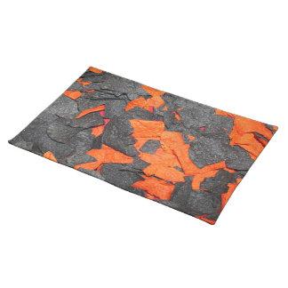 オレンジハロウィンのトーティーヤ破片-及び黒い破片 ランチョンマット
