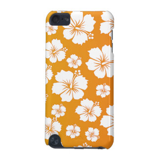 オレンジハワイの花のデザイン iPod TOUCH 5G ケース