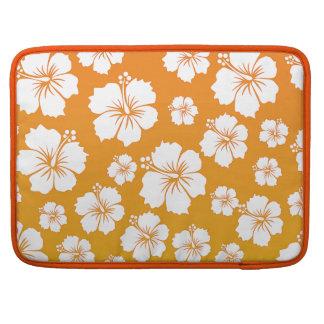 オレンジハワイの花のデザイン MacBook PROスリーブ