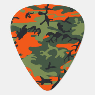 オレンジハンターの迷彩柄 ギターピック